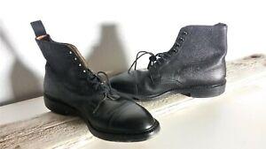 Crockett-amp-Jones-Coniston-Black-Leather-Men-039-s-Ankle-Boots-Sz-10-E-411