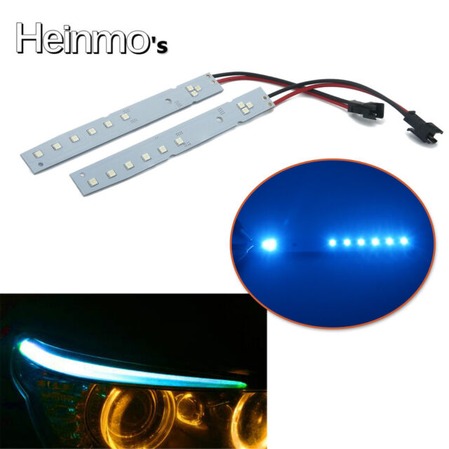 2 x Xenon Blue LED Module For 2008-2010 E60 LCI 5 Series M5 Eyelid Eyebrow  Mod