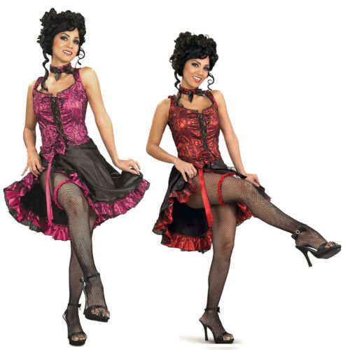 Girl Western Saloon West Cancan Burlesque Dancer Costume Choose Your Color