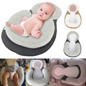 Nouveau-ne-bebe-oreiller-tete-anti-roulement-Coussin-sommeil-plat-pod-2-couleur