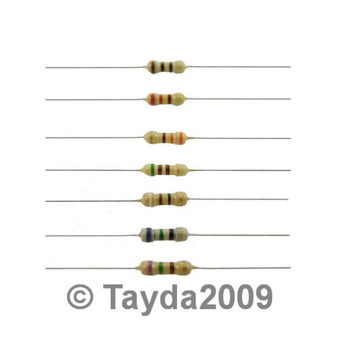50 x Resistors 6.2 Ohms OHM 1//4W 5/% Carbon Film