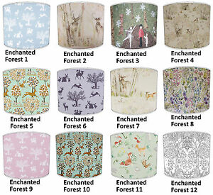 Image Is Loading Lampshade Ideal To Match Enchanted Forest Woodland Cushions