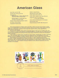 9923-33c-American-Glass-Stamps-3325-28-Souvenir-Page