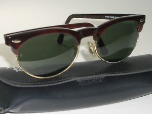 1ca9d8e68510 BAUSCH   LOMB RAY-BAN W1267 G15 TORTOISE GOLD BLEND OVAL CLUBMASTER ...