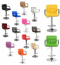 Kitchen Breakfast PU Leather Bar Stool Dining Chair PU Swivel Pub Barstools Home