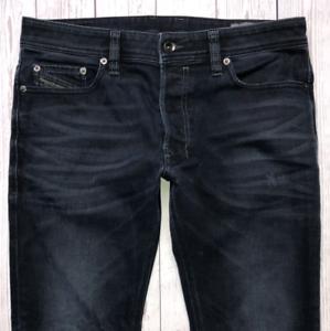 Da-Uomo-Diesel-Safado-Jeans-W31-L28-blu-regular-slim-straight-lavaggio-0858J-Stretch