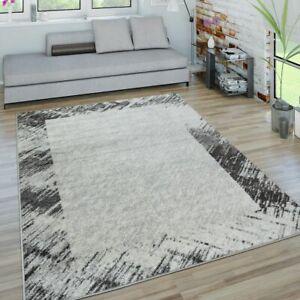 Dettagli su Tappeto da soggiorno a pelo corto con design astratto di  bordature moderne e loo