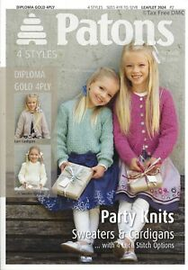 d4bfe10ca VAT Free Hand Knitting PATTERN ONLY Patons Party Knits Sweaters ...