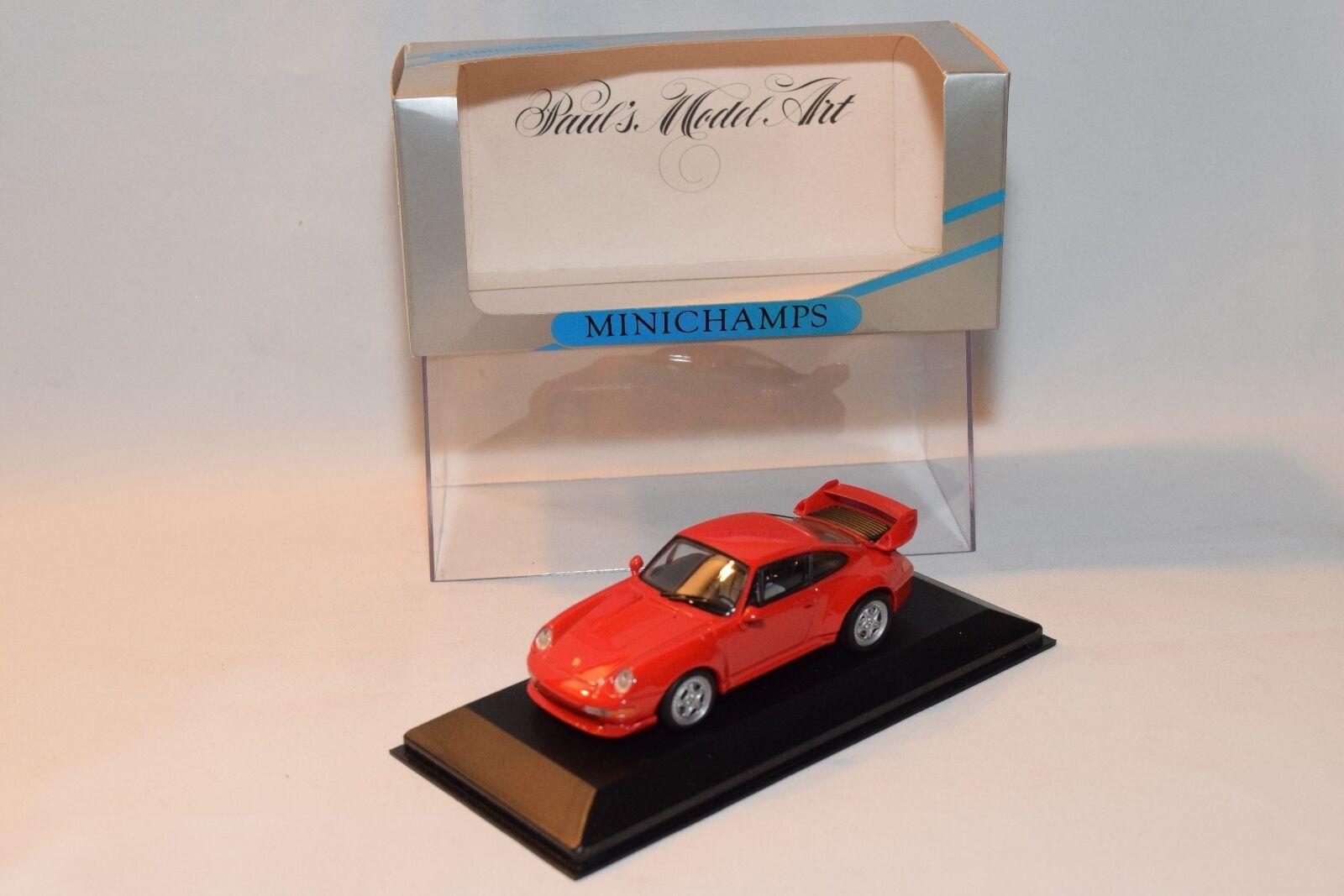 . MINICHAMPS PORSCHE 911 GT2 GT 2 STREET 1995 rosso MINT BOXED RARE SELTEN RARO