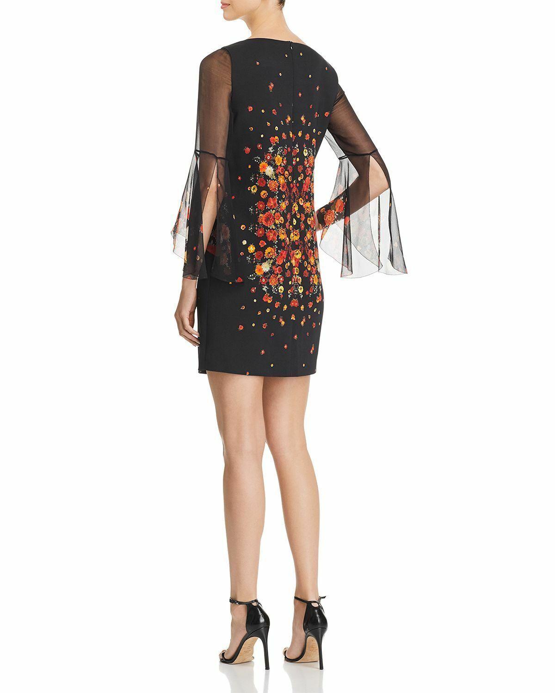 Elie Tahari Esmarella Floral Print Bell Sleeve Dress  398 398 398 Size 10 A 222 Blm dd11ae