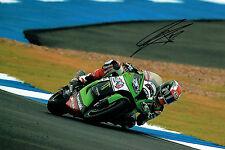 Jonathan REA 2015 SIGNED WSBK Rider Kawasaki Autograph 12x8 Photo AFTAL COA