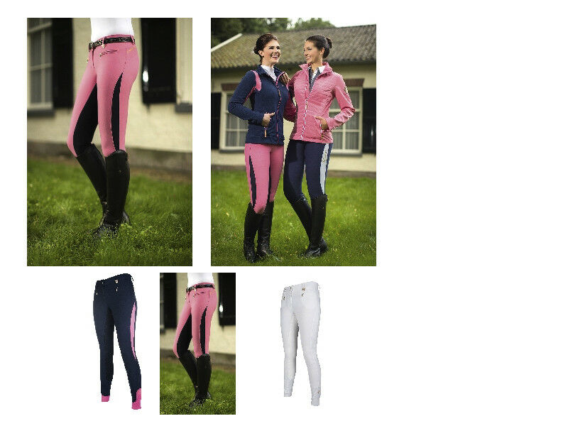 HKM  Nuovo  Donna Pantaloni da equitazione, Queens 34 Grip Tutti I ColoreeiTaglie Consegna gratuita