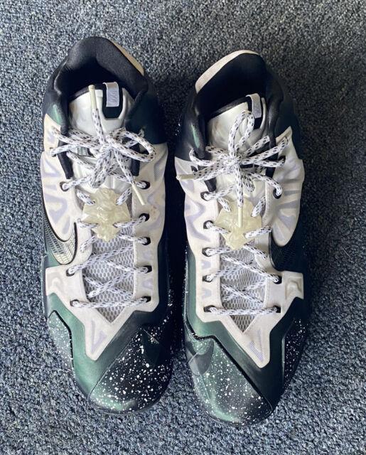 2013 Nike Lebron XI 11 iD Black Oreo Green White 15 PE 641218-991