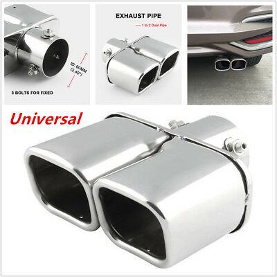 Exhaust Car Muffler Tip Pipe Stainless Steel Tail Pipe Tailpipe Trim Tip Auto Exhaust Muffler Tail Decoration
