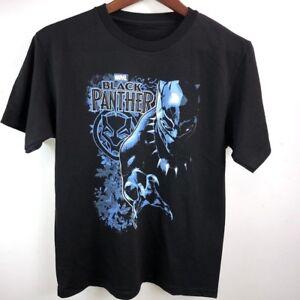 4201a368 Details about Kids Boy's Marvel Comics Avengers Black Panther T- Shirt  Size: S, L,