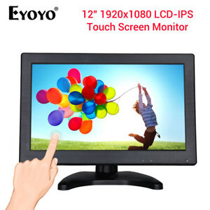 Eyoyo-12-034-Inch-IPS-Touch-Screen-Monitor-Built-in-Loudspeaker-VGA-USB-for-CCD-DVD
