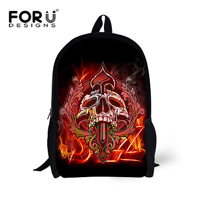 Details about  /Cool Skull Print Children/'s Backpacks Kids School Casual Daypack Travel Bags Boy