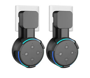 Outlet-Wall-Mount-Hanger-Holder-Stand-for-Amazon-Echo-Dot-3rd-Generation-2Pack
