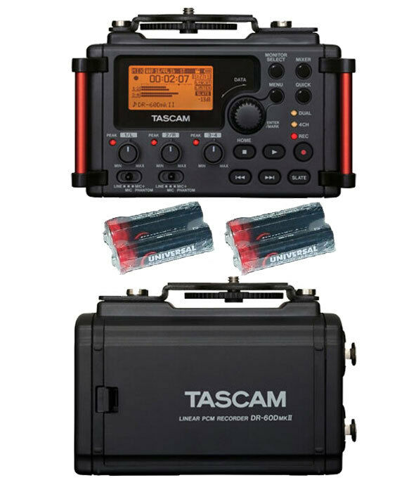 Tascam DR-60DmkII Portable Recorder w 4 Universal Electronics AA Batteries New