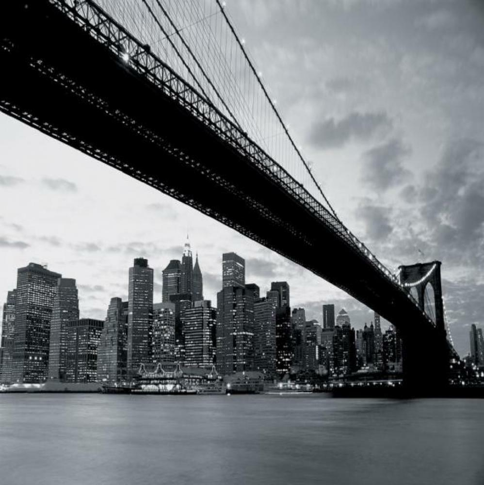 1 PaROT Gigante Fácil de Colgar Papel Pintado Mural Nueva York Puente