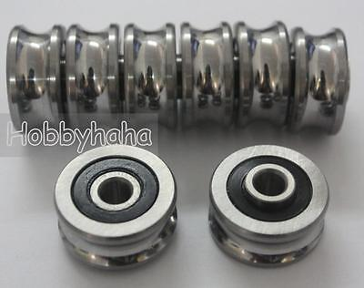 5pcs new SG20 U Groove 6*24*11mm Sealed Ball Track Guide Bearing textile