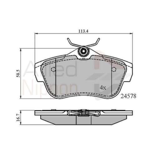 Genuine Allied Nippon Rear Brake Disc Pads Set ADB01622