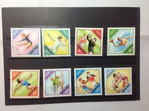 Hungarian 8 x Stamp collection from Munich Olympics 1972. Lightly franked