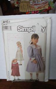 Vtg-Simplicity-8191-Lillian-August-girls-dress-unlined-coat-ruffled-sz-5-NEW