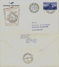 Aerogramma 1° volo (VATICANO)Roma->Monaco 15.7.1958-LH 341(281EF) 50 VOLATE