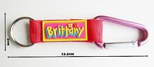 Brittany name Bright key ring personalized keychain split keyring colorful