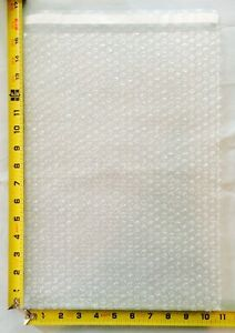 50 10.5x15.5 Clear Protective Self-Sealing Bubble Out Pouches / Bubble Bags