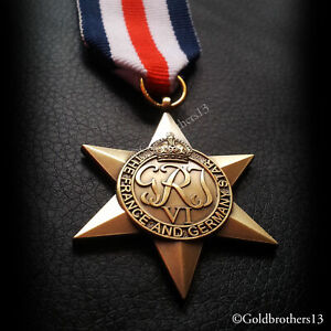 France-and-Germany-Star-Military-medal-Ww2-British-Veterans