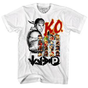 Street Fighter Ryu Ko Player Select Men S T Shirt Bison Combat Gamer Capcom Top Ebay
