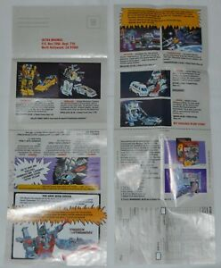 Transformers G1 Vintage 1987 Mail Away Form Insert