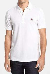 74037c1d0400 NWT Burberry Brit Phillipson White Trim Fit Pique Knit Polo Shirt sz ...