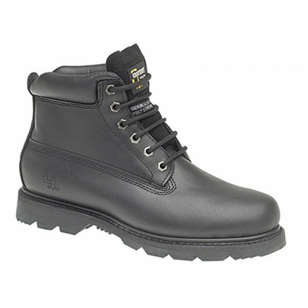 0d5611df936 Grafters Mens Leather GOODYEAR Welted Oil Heat Resistant Comfy Work BOOTS  Black UK 13