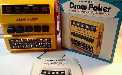 Radio Shack Draw Poker One Arm Bandit  Style  Japan  1 C Battery mid century