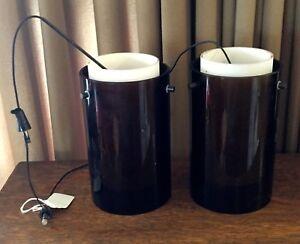 Details About Pair 2 Tech Lighting 700fjecpbz Led Mini Echo Havana Brown Pendant