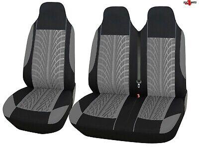1 Gris Trasera Confort Tela Fundas de Asiento para Nissan Nv300 Iveco Daily 2