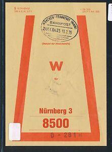 81458) Vorbindezettel Bahnpost Munich-francfort (main) Train 00825 > Nuremberg-afficher Le Titre D'origine
