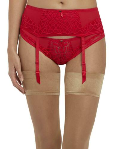 Freya Soiree Lace Suspender Belt 5019 New Womens Lingerie Rouge Red