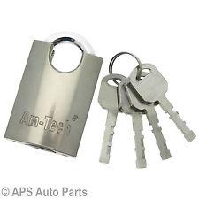 Heavy Duty 40mm Steel Padlock Precision Locking Mechanism Garage Container Door