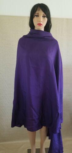 Belly Dance 100% Silk Purple 1/2 Circle Veil