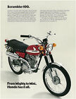 HONDA Brochure CL100 K0 1970 Sales Catalog REPRO