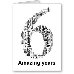 Personalised-Printed-Typographic-Sixth-6th-Anniversary-Card-Gift-Male-Female