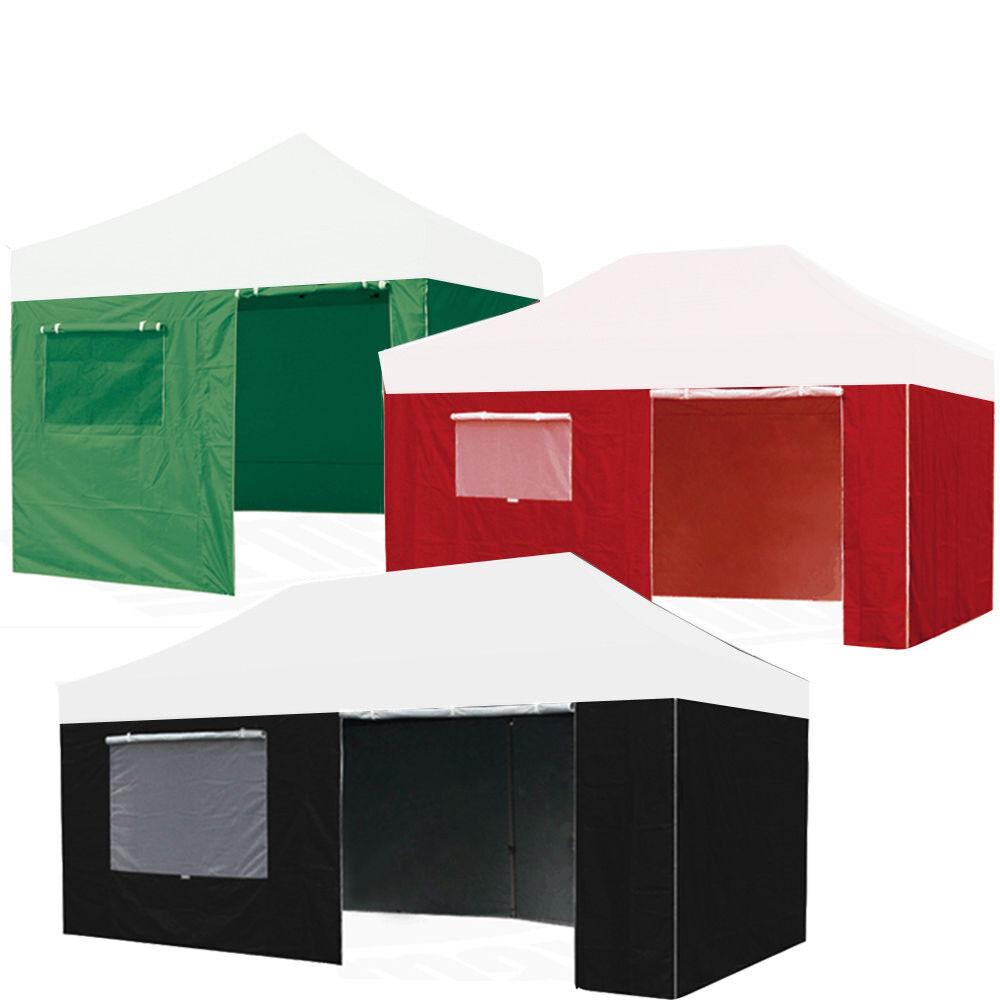 EZ Pop Up Beach Tent Canopy Gazebo Accessory-Enclosure 4 Side Zip Wall Panel Kit