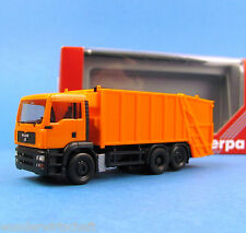 Herpa H0 147620 MAN TG-A M Preßmüllwagen Müllwagen Kommunal Orange HO 1:87 Box