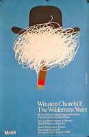 Winston Churchill:the Wilderness Years Original Pbs Poster 46 X 30 Mint
