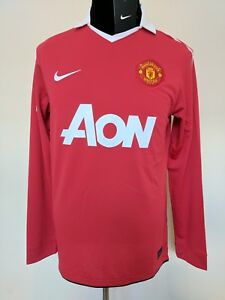 info for 83534 10043 Details about 2010 2011 Manchester United Man Utd long sleeve home football  shirt 18 Scholes