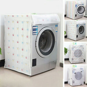 Household-Washing-Machine-Cover-Zippered-Printing-Protector-Laundry-Clean-Supply